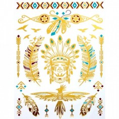 American Natives - Körper-Tattoo Golden Energie