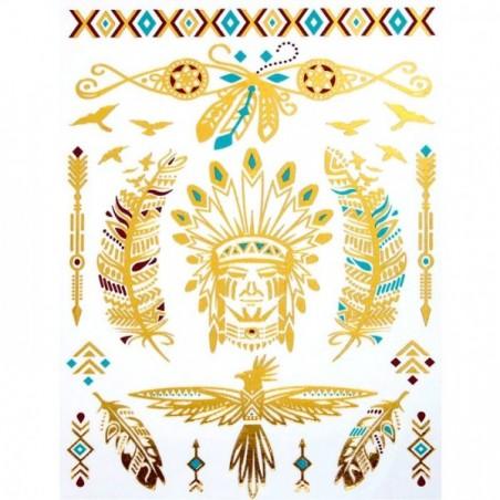 American Natives - Körper-Tattoo Golden Energie