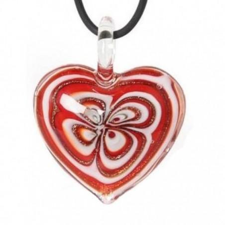 Amulett Glasherz rot