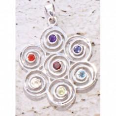 Anhänger Chakra-Spirale Silber