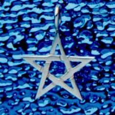 Anhänger Pentagramm 20 mm ohne Rand