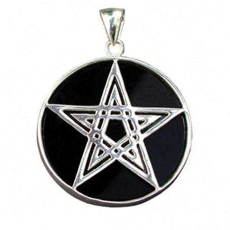 Anhänger Pentagramm auf Onyx
