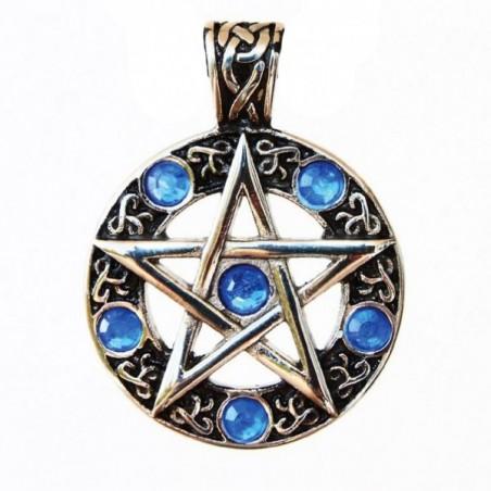 Anhänger Pentagramm in keltischem Kreis