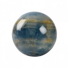 Edelstein-Kugel Aragonit blau 4cm