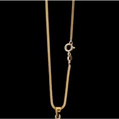 Fuchsschwanzkette Silber vergoldet