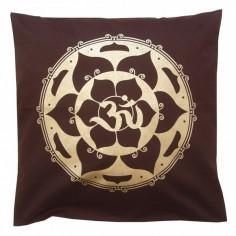 Kissenbezug Lotus Om braun
