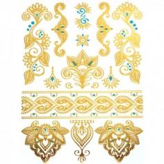 Mandala Henna II - Körper-Tattoo Golden Energie