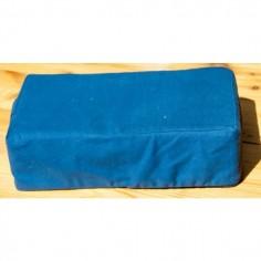 Meditationssitz Sitzkissen dunkelblau mit Kokosnuss