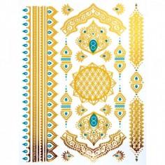 Oriental Henna - Körper-Tattoo Golden Energie
