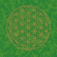 Poster Blume des Lebens grün