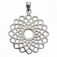 Sahasrara Anhänger Lotus Silber