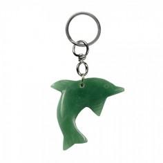 Schlüsselanhänger Delfin Aventurin