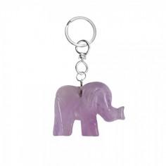 Schlüsselanhänger Elefant Amethyst