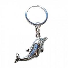 Schlüsselanhänger Paua Muschel Delfin