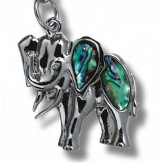 Schlüsselanhänger Paua-Muschel Elefant