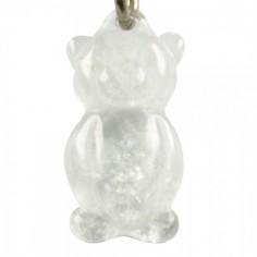 Schlüsselanhänger Teddy Bergkristall