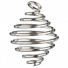 Spiralanhänger silberfarben für Trommelsteine