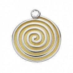 Spirale teilvergoldet Anhänger mit Zirkonia