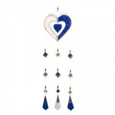Tiffany Mobile Herzen blau