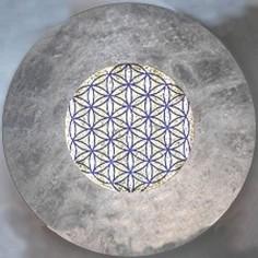 Wandleuchte Taolight Crystal blattversilbert mit der Blume des Lebens