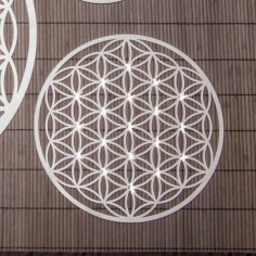 Wandschmuck 25 cm Edelstahl mit Kristallen