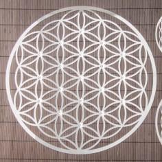 Wandschmuck 44 cm Edelstahl mit Kristalle