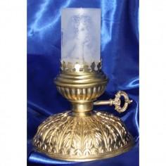Windlicht Petrolllampenform mit Zylinderglas 17 cm