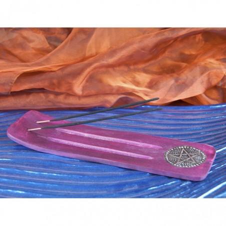 Purple Pentagramm Breiter Holzhalter