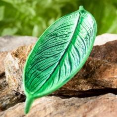Blatthalter Weissmetall grün