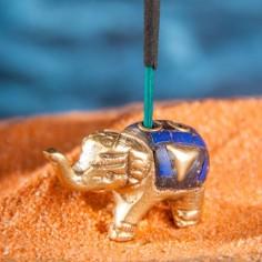 Messing Elefant Räucherstäbchenhalter