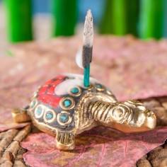 Messing Schildkröte Räucherstäbchenhalter