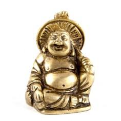 Happy Buddha 4,5cm Messing mit Hut
