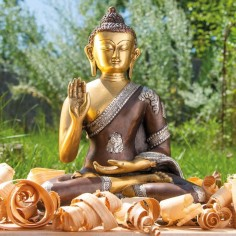 Amogasiddhi 25cm Messing Buddha