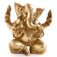 Ganesha 14,5cm Messing
