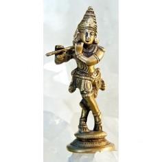 Krishna 12cm Messing