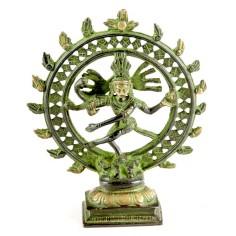 Shiva Nataraj 15cm Messing antik