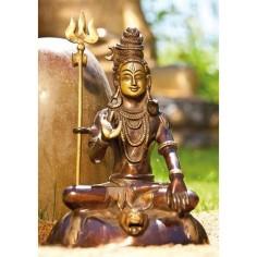 Shiva Statue 18cm Messing