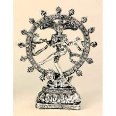 Shiva Nataraj 25,5cm Polyresin silber