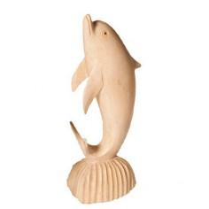 Delphin 10cm Holz