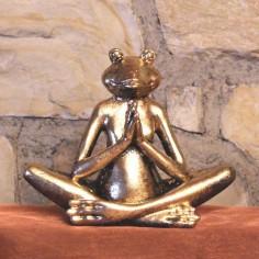 Yoga Frosch 12cm Polyresin Anjali Mudra