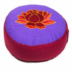 Lotus Meditationskissen violett/rot