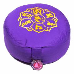 OM MANI PAD ME HUM Meditationskissen violett