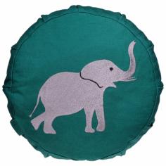 Elefant Meditationskissen für Kinder grün