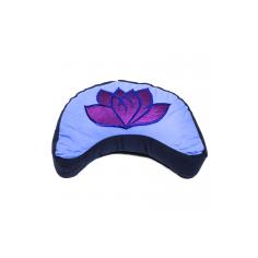 Lotus Meditationskissen Mond blau