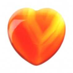 Herz 25mm Carneol gelb