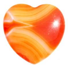 Herz 35mm Carneol gelb