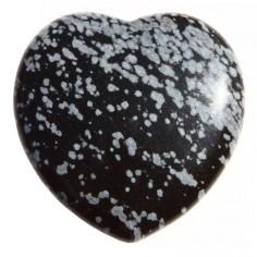 Herz 35mm Schneeflocken Obsidian