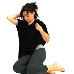 Meditation Poncho Cashmere schwarz