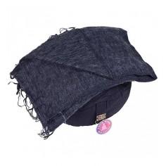 Schal für die Meditation - anthrazit