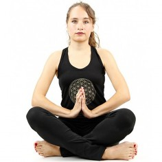 Yoga-Top Surya Blume des Lebens - schwarz